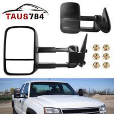 Pair Tow Side Mirrors Manual for 99-06 Chevy Silverado Sierra Truck 1500 2500