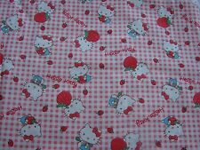 Red & White Hello Kitty Cotton Fitted Cot Sheet Handmade