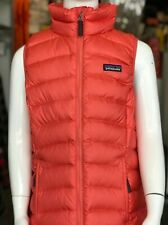 PATAGONIA GIRLS DOWN SWEATER VEST - LARGE (12) - SPICED CORAL - NEW WITH TAGS!!!