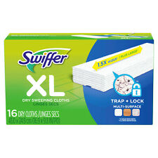 Swiffer Sweeper XL Dry Sweeping Cloth Pad Refill, Unscented (16 Count)