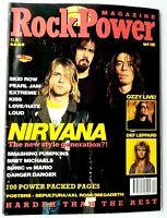 Rock Power Magazine No. 11 April 1992 Nirvana Def Leppard Ozzy Osbourne Kiss