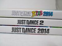 Just Dance 2, Kids 2014 &  Adult 2014 (Nintendo Wii Video Game Lot) Complete