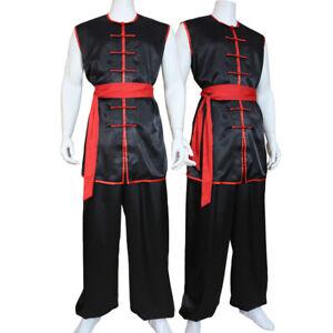 Sleeveless Martial Arts Uniform Kung Fu Tai Chi Suit Taichi Wushu Nanquan Suit