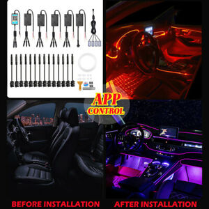 6m RGB LED Light Strip Car Interior Footwell Atmosphere Lamp 18in1 For Dodge