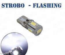 1 Ampoule w5w T10 LED Blanc Veilleuses  Positions STROBO FLASHING Stroboscope