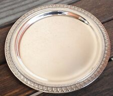 """6 assiettes à pain en métal argenté Christofle modèle """"Malmaison"""""""