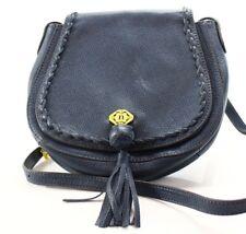 Nanette Lepore $198 NWT Blue Denim Ana Saddle Flap Crossbody Leather Handbag