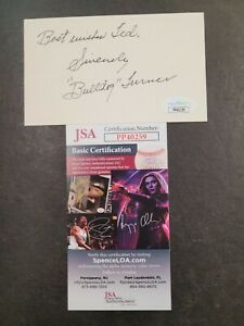 Bulldog Turner Signed 3x5 index card JSA Certified Auto! NFL Bears Personalized