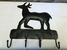 Wandhaken Motiv Renntier braunes Metall für 4 Teile