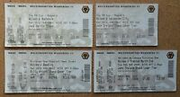 4 WOLVES 2002-03 FOOTBALL TICKETS v Leicester,PNE,Rochdale & Reading (Play-Off)