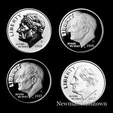 2017 2018 S Roosevelt Enhanced BU, Reverse, Silver Proofs from Mint Proof Set