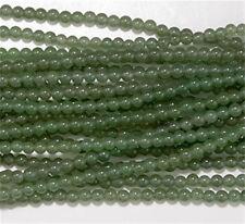 4mm Green Aventurine Round Beads (90 +/- per strand)