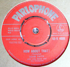 "Adam  Faith  How  About  That /  With  Open  Arms  1960  7""  Vinyl Single  R4689"