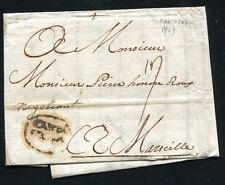 1749 Spain prephilatelic cover to France