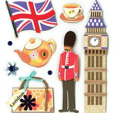 K&CO SITES OF LONDON 3d Scrapbook Sticker Medley
