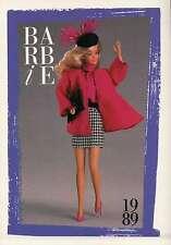 "Barbie Collectible Fashion Trading Card "" Barbie Paris Pretty Fashions "" 1989"
