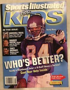February 2001 Sports Illustrated For Kids Randy Moss Minnesota Vikings