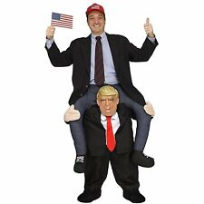 Halloween Funny Adult Costume Adult Piggy Back RideOn USA PResident Donald Trump