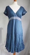 Fat Face Dress 14 Blue