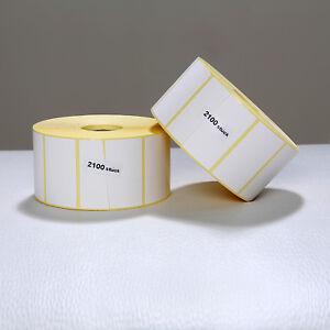 2 X Thermo Etiketten auf Rolle - 57 x 32 mm - 4200 Stück