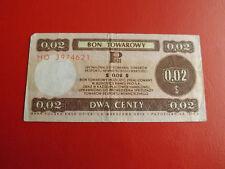 * Polen Bon Towarowy 1979 / 2 Centy *(ORD2)