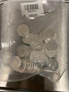 LOT OF 50 1 gram .999 Fine Silver Bullion Rounds - Fractional