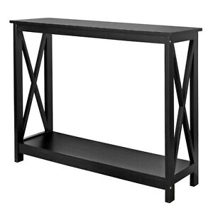 Home Entryway Table MDF Finish Simple Luxury Console Table - X Shape Side Fix De