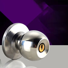 Round Ball Stainless Steel Door Knobs Handle Passage Entrance Lock Entry w/ 3Key