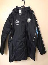 Argentina Adidas Messi ERA Barcelona Padded  Bench Jacket Coat LG  Shirt