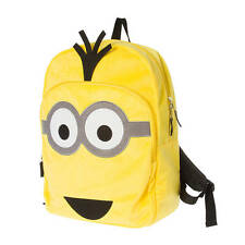 NWT Despicable Me Minion Large Backpack Bright Yellow Plush