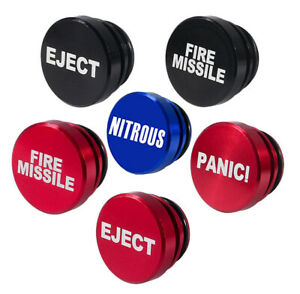 Car Power Point Cover EJECT * PANIC! * FIRE MISSLE * NITROUS * Red Black or Blue