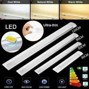 1ft 2ft 3ft 4ft HIGH POWER SLIMLINE LED BATTEN Replace Florescent Tube Lights UK