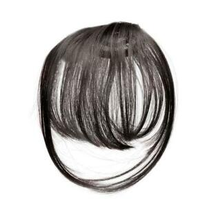 Thin Neat Air Bangs Remy Hair Extensions Clip in on Fringe H9V8 K5K0 D9T0