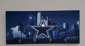 """Dallas Cowboys Key Hanger Holder Organizer 5""""x11"""""""