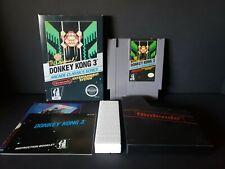 Donkey Kong 3 (Nintendo Entertainment System NES) Complete Black Box Boxed