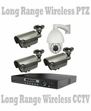 PTZ LONG RANGE WIRELESS CCTV UP TO 2500 FT Security Cameras NightVision + DVR