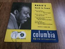 """COUNT BASIE - BASIE'S BACK IN TOWN 7"""" EP 1956 COLUMBIA EX"""