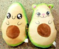 NEW Avocado Plush Starry Eyes + Hamster Set Toy Cute Doll Stuffed Figures Kawaii