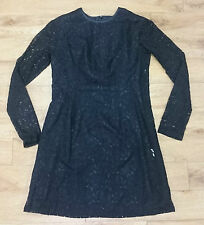 Black lace tunic/ dress/ top/ Long sleeve/ One Size - 660