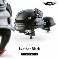 Moto Helmets D33 – Braincap Leather Wehrmacht Steel Half Shell Motorcycle Vespa