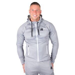 Gorilla Wear Bridgeport Zipped Hoodie – Silverblue Fitness Bodybuilding