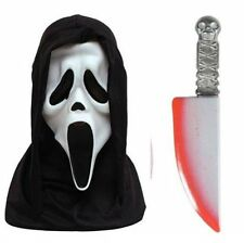 Official Scream Mask & Bloodied Blade Pack Halloween Fancy Dress Kit