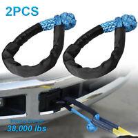 """2pcs 1/2"""" Blau Kunststoffseil Seilwinde Windenseil Seil Synthetikseil 38,000LBS"""