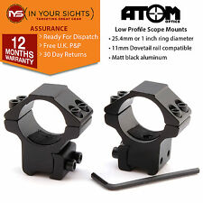 1 inch low profile dovetail rifle scope mounts  / Air rifle 25mm sight rings