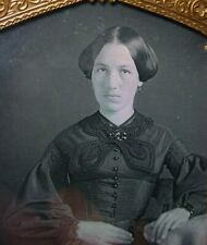 Stunning Young Lady  1/6 Plate Daguerreotype From Atlanta -- Excellent