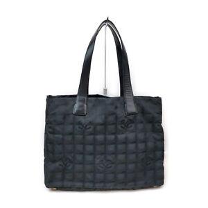 Chanel Tote Bag Travel Line Black Nylon 1538253