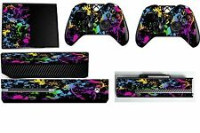 PAINT SPLAT XBOX ONE *TEXTURED VINYL ! * PROTECTIVE SKIN DECAL WRAP STICKERS