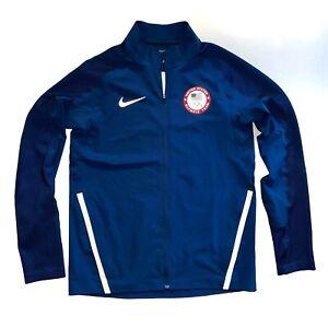 RARE NIKE FLEX OLYMPIC TEAM USA 2016 RUNNING MEN'S ORIGINAL JACKET COAT / SIZE M