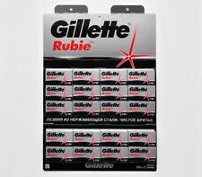 100 NEW ORIGINAL GILLETTE RUBIE DOUBLE EDGE CLASSIC SAFETY RAZOR BLADES