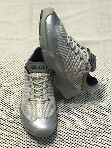 ECCO BIOM train natural motion women's shoes white/silver size EURO 37 US 6.5